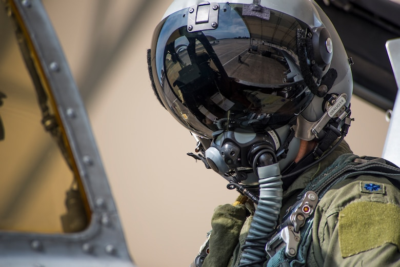 Lt. Col. David Rayman conducts preflight checks July 17, 2014, at Moody Air Force Base, Ga. The flight put Rayman past the 3,000-hour mark in the A-10C Thunderbolt II. Rayman is the 75th Fighter Squadron commander. (U.S. Air Force photo/Airman 1st Class Ryan Callaghan)