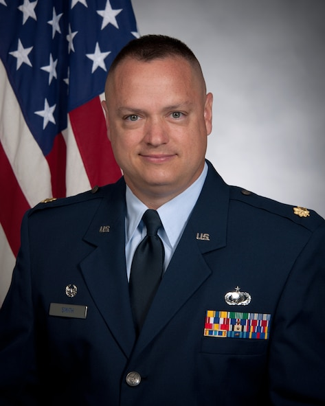 Maj. Gene Smith, 460th Space Wing Contracting Flight commander