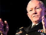 Army Gen. Martin E. Dempsey, chairman of the Joint Chiefs of Staff, addresses the Aspen Security Forum in Aspen, Colo., July 24, 2014. DoD photo by Army Staff Sgt. Sean K. Harp