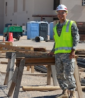 KIRTLAND AIR FORCE BASE, N.M. -- Hunter Firebaugh, a visiting cadet from West Point, visits the Air Force Sustainment Center project on base, July 11, 2014.