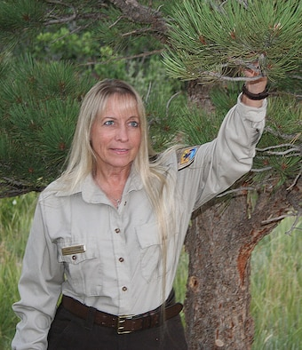 Diane Strohm, the Academy's natural resources manager, has been a U.S. forester for 35 years. She's been in charge of forest management and wild land fire prevention here for 10 years, managing forest thinning and restoration, fuel mitigation, Bark beetle control, tree planting and prescribed burning projects – just to name a few. (Courtesy photo)