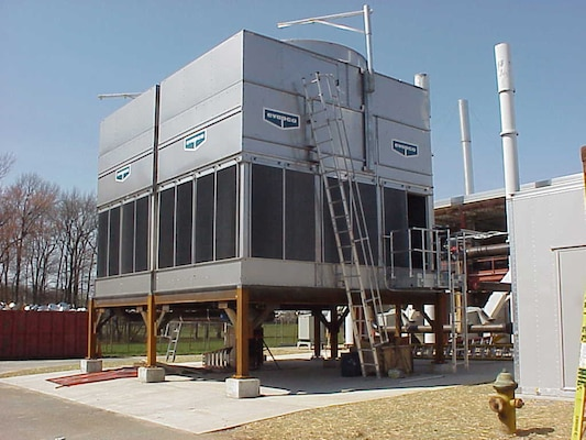 An energy savings performance contract at Aberdeen Proving Ground, Maryland, added a cooling tower to support two 750-ton chillers to operate 24x7x365 in a surety laboratory. The chiller is one element of the project that will help the installation Directorate of Public Works improve overall efficiencies and generate actual savings to the government.