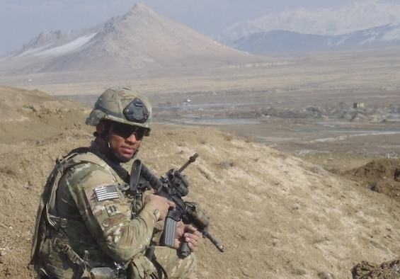 "Capt. Ralph ""R.J."" Johnson in Afghanistan (Courtesy Photo/Released."
