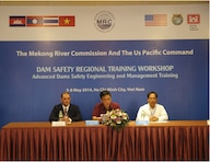 Jacob Owen (far left), chief of Geotechnical Branch, U.S. Army Corps of Engineers Kansas City District, participates at the Dam Safety II Workshop on May 5 in Ho Chi Minh City, Vietnam. The workshop was a multinational effort with the Mekong River Commission, consisting of members from Cambodia, Laos, Thailand and Vietnam.