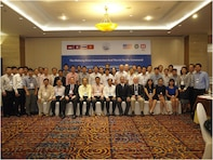 Participants of the Dam Safety II Workshop pose for a class photo in Ho Chi Minh City, Vietnam. This workshop followed the Dam Safety I Workshop in 2013 in Thailand.