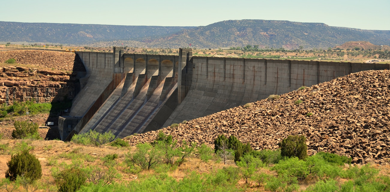 CONCHAS DAM, N.M., -- A view of the dam, July 11, 2009, by Richard Banker.