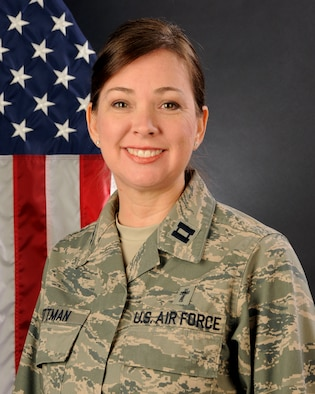 U.S. Air Force Capt. Christina Pittman, 169th Fighter Wing Chaplain at McEntire Joint National Guard Base, South Carolina Air National Guard, poses for her portrait, Jan. 13, 2014.   (U.S. Air National Guard photo by Senior Master Sgt. Edward Snyder/Released)