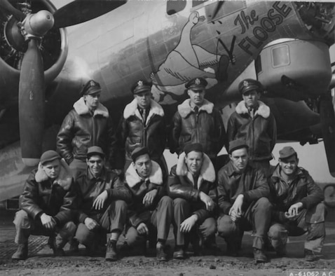 The late 2nd Lt. Jackson Palmer Jr., third from top left, was a navigator assigned to the 303rd Bombardment Group at RAF Molesworth, United Kingdom, when his plane was shot down by enemy forces while conducting an aerial mission during World War II May 28, 1944. His family only received notification of him missing in action. Nearly 70 years later, Palmer's second cousins traveled to England to find out what happened to him and visit his grave site at the World War II American Cemetery and Memorial in Margraten, The Netherlands. (Courtesy photo/Released)