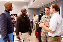 The Citadel held a job fair for its night class students to learn about engineering jobs in the area. Max Carroll and Charleston District Deputy Commander Maj. John O'Brien attended the event to discuss job opportunities at the Charleston District.