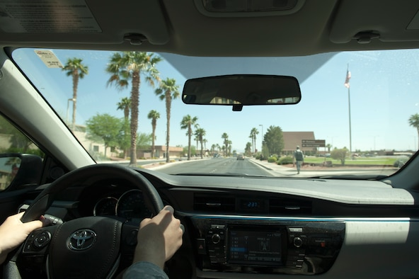 "Summer brings a number of factors to escalate the risk of being in an accident. According to the Las Vegas Metropolitan Police Department, the highest casualty factor for traffic accidents in 2012 was ""improper driving"" followed by ""excessive speed."" Accident can't always be avoided, but taking some extra precautions such as buckling up and staying focused on the road can make the difference between a near miss, injury or even death. (U.S. Air Force photo by Senior Airman Timothy Young)"