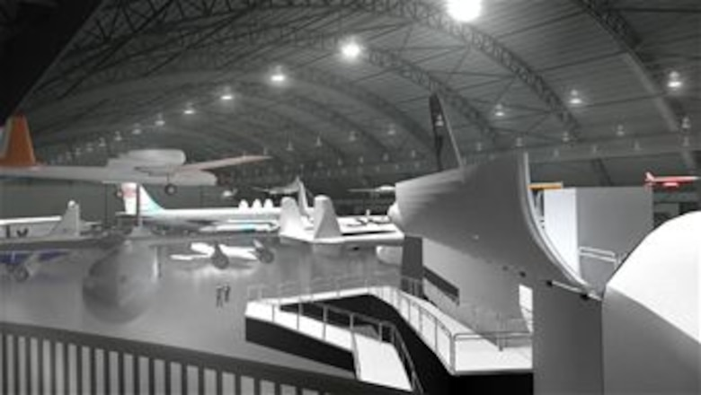 Artist rendering of the interior of the National Museum of the U.S. Air Force's fourth building. (Updated May 2014. Subject to change.) (Graphic courtesy of BRPH Companies Inc.)