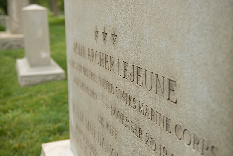 Lt. Gen. John A. Lejeune, 13th commandant of the Marine Corps, is one of many legendary Marines laid to rest within the walls of the Arlington National Cemetery. The cemetery commemorates its 150th anniversary June 15, 2014. Arlington has a rich history of homage for those who served.