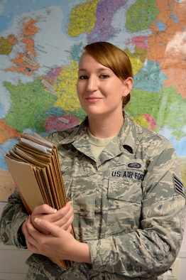 U.S. Air Force Staff Sgt. Sarah Halsey, 52nd Force Support Squadron career development supervisor, from Fort Pierce, Fla., is the Super Saber Performer for the week of June 12 - 18. (U.S. Air Force photo by Senior Airman Alexis Siekert)