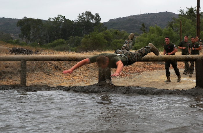 Marines and sailors competed in the Commanding General's Cup Mud Run at Lake O'Neill June 6. The run is a 10K with militaristic obstacles including a rope net, wall climb and low crawling through a mud pit.   The Commanding General's Cup is a series of athletic events for units on base to compete in. 1st Combat Engineer Battalion were the winners of the run.