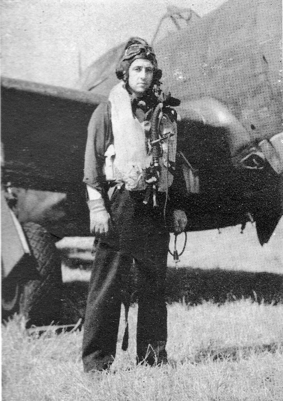 "406th Fighter Squadron Commander and leader on both D-Day missions was Major Edwin D. Taylor.  He led the squadron from July, 1943, to September, 1944.  (Courtesy ""The 371st Fighter Group in the E.T.O."" via 406FS P-47 Pilot Francis E. Madore)"