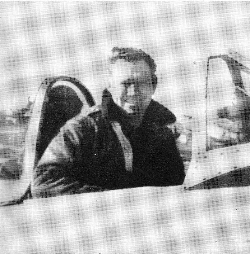 "405th Fighter Squadron Commander and leader on both D-Day missions was Major Harvey L. Case, Jr.  He led the squadron from July, 1943, to September, 1944.  (Courtesy ""The 371st Fighter Group in the E.T.O."" via 406FS P-47 Pilot Francis E. Madore)"