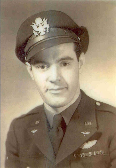 U.S. Army Air Force 1st Lt. Stanley P. Richardson, Jr. was a postwar member of the 123rd Fighter Squadron in the 1950s.  In World War II he was a P-38 Lightning fighter pilot in the 338th Fighter Squadron of the 55th Fighter Group and flew three combat missions on D-Day.  This picture was taken circa 1944.  (Courtesy Oregon Military Department Blog)
