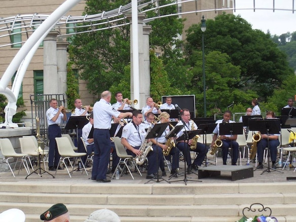 MSGT Zack Williamson leads the 572nd Jazz Band in Asheville, NC on Memorial Day, 2014