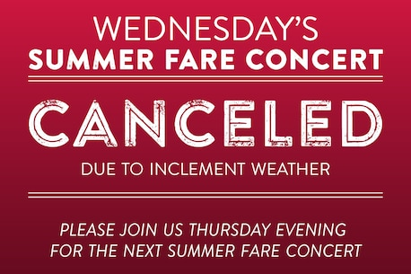 Tonight's (8/14) Free Country concert at the United States Capitol has been cancelled due to excessive heat. free Country is scheduled to perform tomorrow at Glen Echo Park at 7:30 pm. https://www.marineband.marines.mil/Calendar/