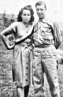 Pvt. Homer Farley poses with his wife Lillian shortly after returning from World War II in 1946. Farley continued to serve in the Army Air Corps after the war, and also fought in the Korean War and the Vietnam War.