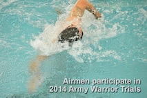 A swimmer practices his strokes at the U.S. Military Academy, West Point