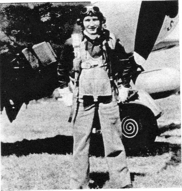 "Capt. Uno Salmi of the 406FS claimed a Luftwaffe FW-190 in the 371FG's first day of air combat in Europe.  He went Missing in Action on June 16, 1944, near St. Lo, France.  He is remembered on the Tablets of the Missing at the Cambridge American Cemetery, Cambridge, England.  (Courtesy ""The Story of the 371st Fighter Group in the E.T.O."")"