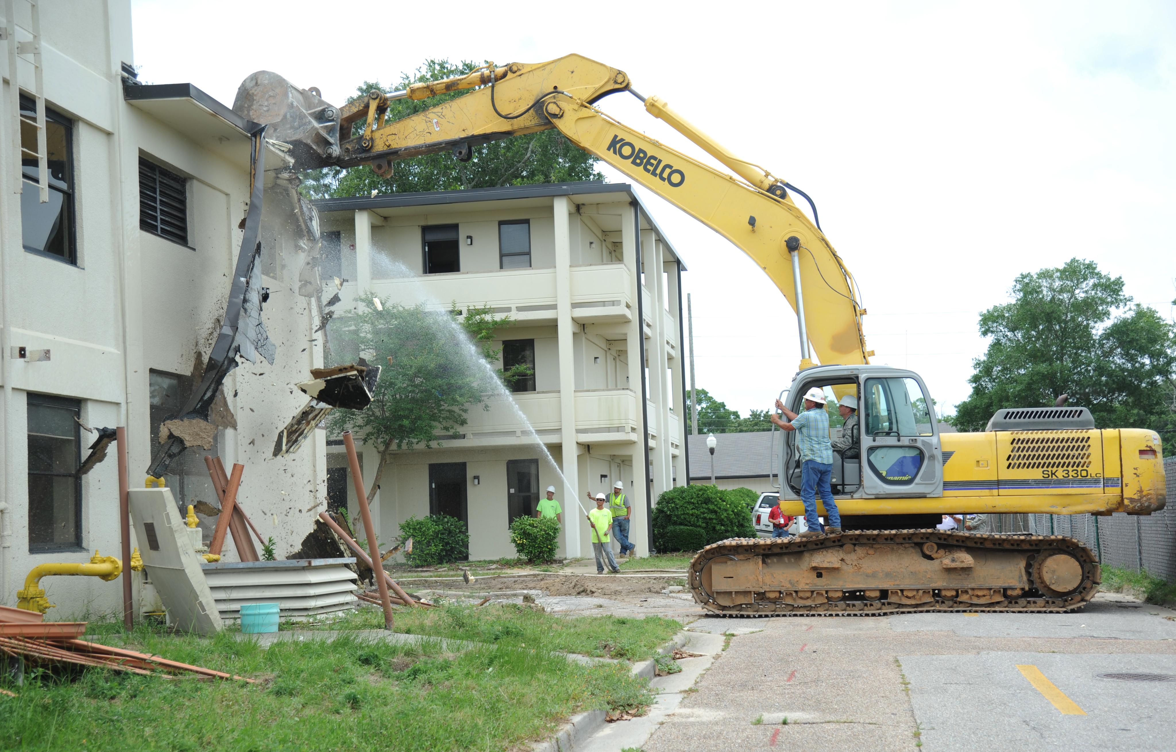 Keesler demolitions reduce costs, save energy > Keesler Air Force