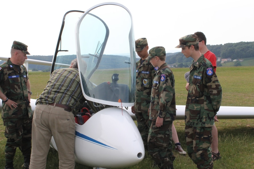 The Spangdahlem Cadet Squadron, Civil Air Patrol, learn about the operations of an ASK-21 Glider June 8, 2014, as part of a Flight Orientation Program. The group meets every Thursday from 6-8:30 p.m. Youth ages 12 to 18 may join the CAP. For general information on the program, visit http://www.gocivilairpatrol.com. For more information about the Spangdahlem CAP squadron, email nhqos126@yahoo.com or visit http://www.facebook.com/capspangdahlem. (Courtesy photo/released)