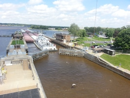 Mississippi River Visitor Center at Locks and Dam 15.