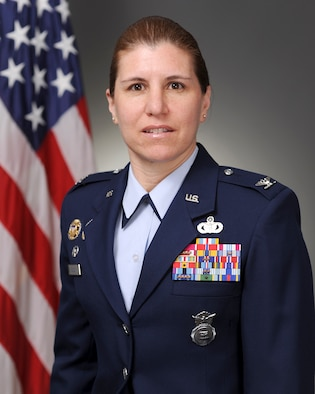 Col. Andrea Tullos, 42nd Air Base Wing commander. (U.S. Air Force courtesy photo)