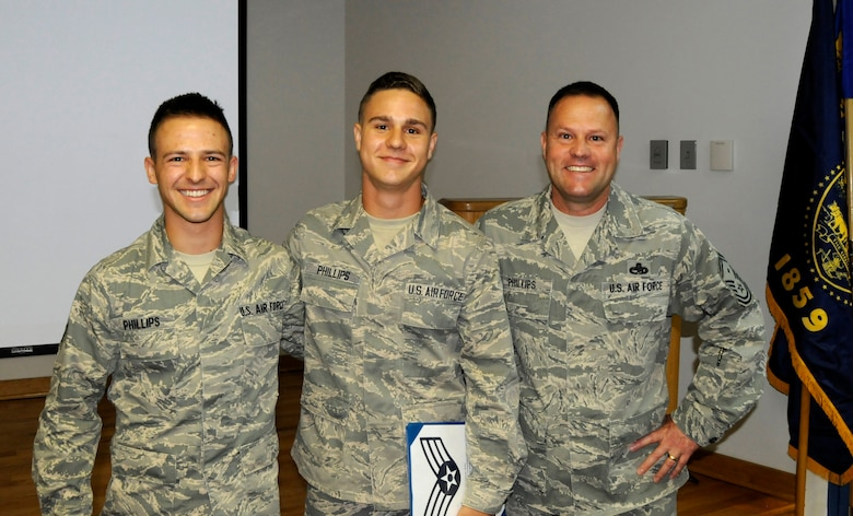 Two Brothers March Alongside Their Father Air National Guard