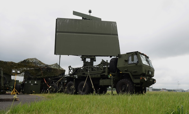 Radar equipment from the 606th Expeditionary Air Control Squadron rotates to gather data June 12, 2014, at Powidz Air Base, Poland. The 606th EACS will serve as a Control and Reporting Center that provides tactical control to the aircraft participating in Poland's EAGLE TALON exercise and the U.S. Air Force Aviation Detachment's Rotation 14-3 training exercise. (U.S. Air Force photo/Airman 1st Class Kyla Gifford/Released)