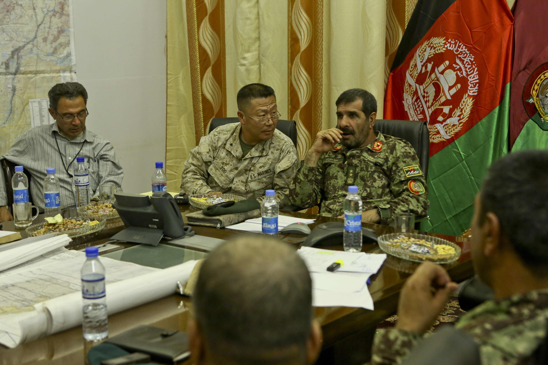 Afghan Army Maj  Gen  Sayed Malouk, commanding general of