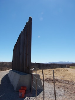 SIERRA BLANCA, TX., -- View looking south at a Border Floating Fence Segment. Photo by Phillip Roybal, Feb. 23, 2009.