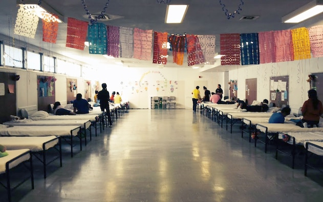 The Department of Health and Human Services' Administration for Children and Families is overseeing the care and housing for immigrant minors at a recruit housing and training facility on Joint Base San Antonio-Lackland, Texas. (Courtesy Photo)