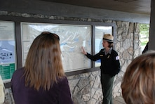 Willamette Valley Project Park Ranger Christie Johnson provides an overview of Corps recreation facilities in the South Santiam Basin. Linn County Parks and Recreation manages six recreation areas on Corps land in the South Santiam Basin, including two campgrounds and several heavily-used boat ramps.
