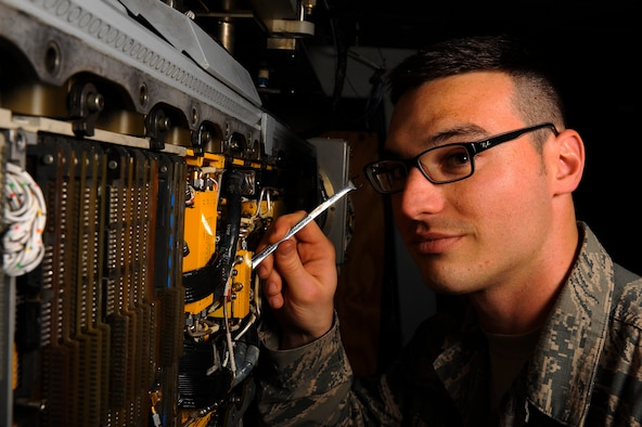 U.S. Air Force Staff Sgt. Daniel J. Felice, 52nd Component Maintenance Squadron, electronic warfare systems journeyman from San Diego, is the Super Saber Performer for the week of June 19 - 25. (U.S. Air Force photo by Senior Airman Rusty Frank)