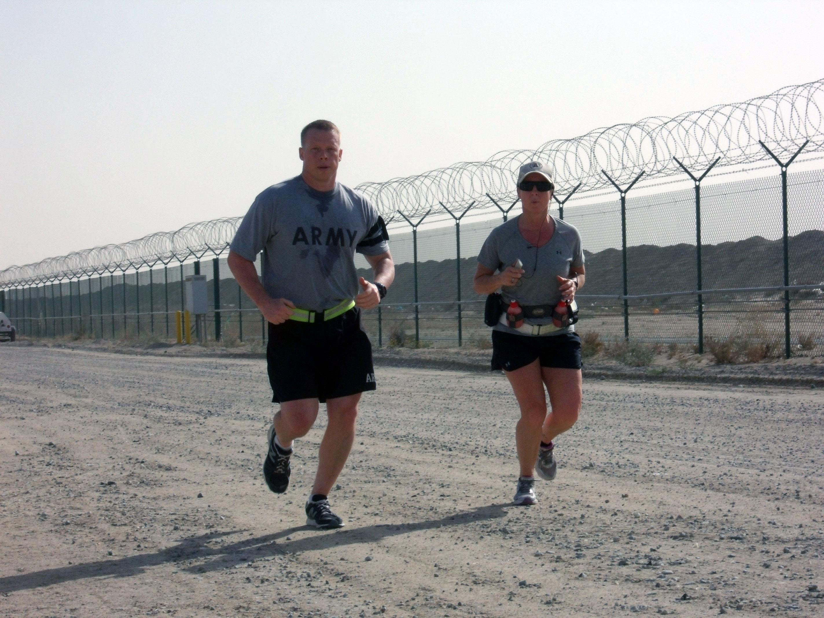 North Carolina Guard member dedicates 100-mile run to fallen comrades