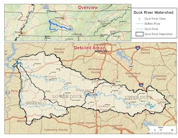 This is a map of the Duck River Watershed.