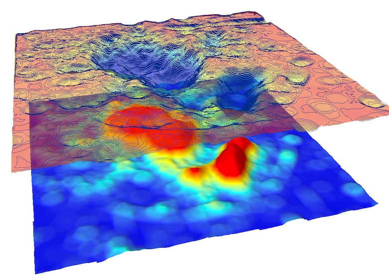 The resulting dataset represents the correlation between energetic compounds and metal fragments. The goal of this research was to identify energetics in the soil through electro-magnetic proxy data collected from an airborne platform.