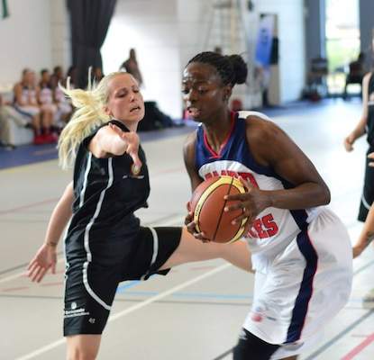 The U.S. Armed Forces Women's Basketball team competed in the 2014 Conseil International du Sport Militaire (CISM) Basketball Championship in Meyenheim, France from 15-22 June.
