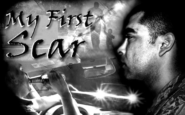 Staff Sgt. Luis Loza Gutierrez shares the story of how his first scar became his reason for never driving while under the influence of alcohol. (U.S. Air Force graphic/Staff Sgt. Luis Loza Gutierrez)