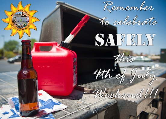 """With the Fourth of July weekend right around the corner, many people are making plans to celebrate with their friends and families. While having fun is important, it is paramount to keep safety as the number one priority. The National Safety Council in Itasca, Ill. warns the combination of alcohol, fireworks and driving can be a recipe for disaster. The NSC goes so far as to give the Fourth of July the dubious honor as being """"the most dangerous holiday of the year."""" More information can be found at http://www.nsc.org/pages/home.aspx (U.S. Air Force photo illustration by Airman 1st Class Thomas Spangler)"""