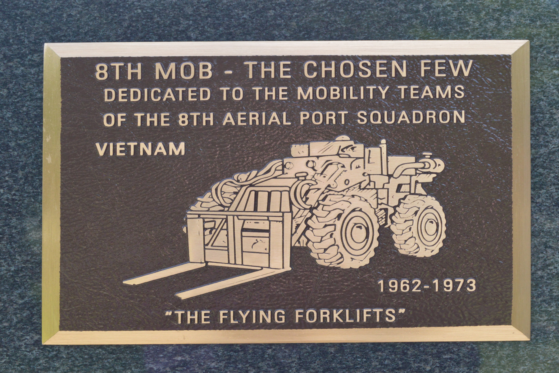 8th MOB Plaque Air Force Museum
