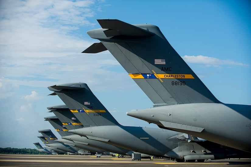 437th Airlift Wing Globemaster III C-17s line the ramp, June 24, 2014, at Joint Base Charleston, S.C. The maintainers perform daily checks and maintenance to ensure the aircraft are ready to fly. (U.S. Air Force photo/Senior Airman George Goslin)
