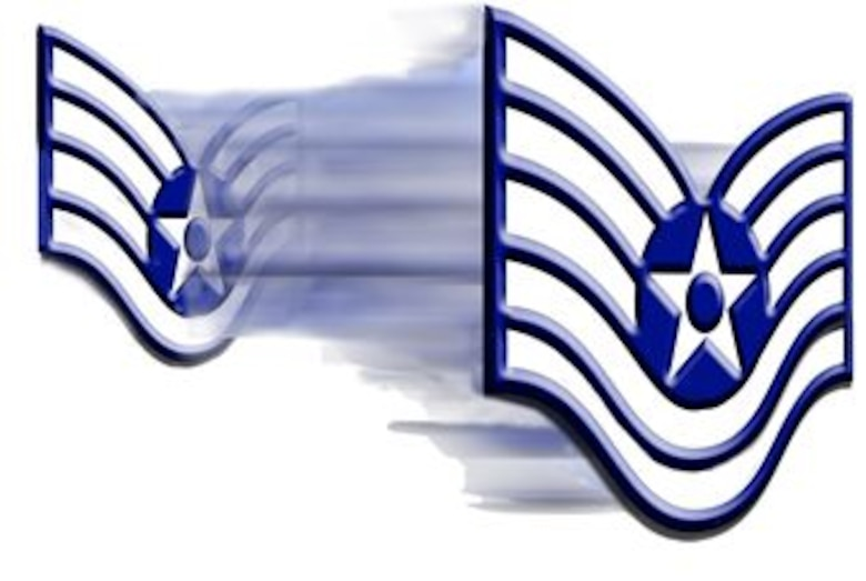 Staff sergeant insignia fades into technical sergeant insignia. U.S. Air Force archive graphic by Senior Airman Miguel Lara was used to create this updated graphic. (U.S. Air Force graphic/Staff Sgt. Luis Loza Gutierrez)