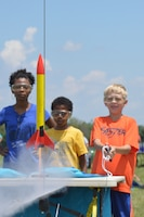 DAYTON, Ohio -- Students launch rockets during Aerospace Camp at the National Museum of the United States Air Force. (U.S. Air Force photo by Ken LaRock)