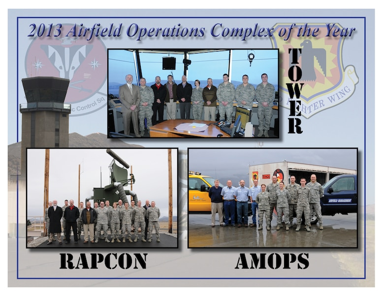 The 270th Air Traffic Control Squadron and 173rd Fighter Wing Air Field Management Operations were recognized as the Airfield Operations Complex of the Year for 2013.  (U.S. Air National Guard illustration by Tech. Sgt. Jefferson Thompson/Released).