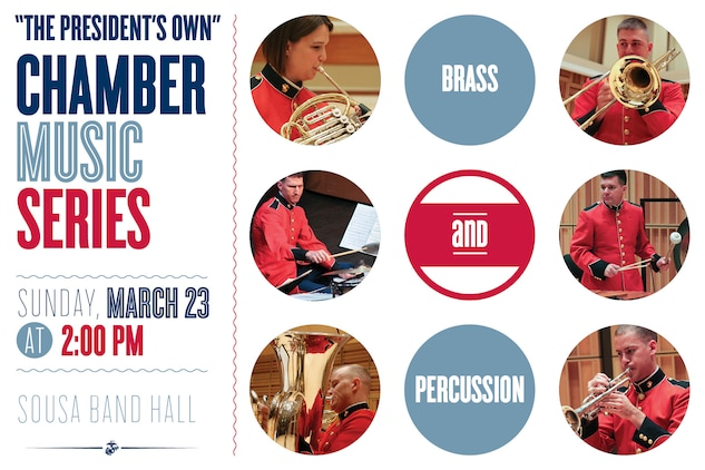 Sunday, March 23 at 2 p.m. - Coordinated by percussionist Gunnery Sgt. Kenneth Wolin and trumpeter/cornetist Staff Sgt. Michael Warnick,