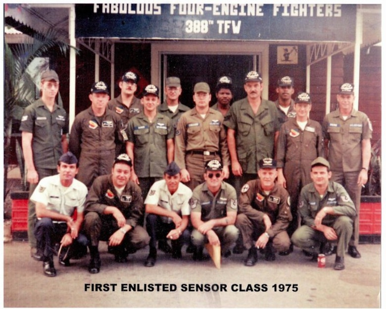 Members of the first-ever enlisted sensor operator class pose for a photo in 1975. For more than 40 years, sensor operators have played a pivotal role in establishing the U.S. Air Force as the world's most dominant air and space power. (U.S. Air Force courtesy photo)
